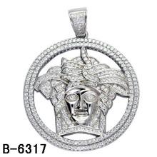 Rhodium / K Vergoldung 925 Sterling Silber Mikro Einstellung Anhänger.