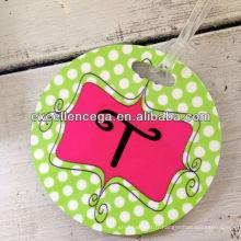 Étiquette ronde populaire de bagage de PVC