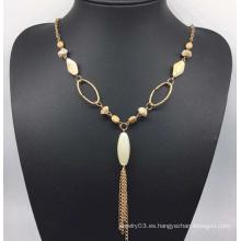 Collar de perlas de perlas de colores (XJW13763)