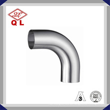 304 / 316L Curva sanitária de aço inoxidável Cotovelo soldado de 90 graus