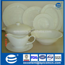 Hot sale hotel & restaurant lave-vaisselle coffre-fort blanc new bone China dinner plates, wholesale dinner plates