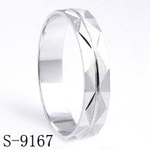 Joyería del anillo de compromiso / boda de la boda de la plata esterlina de la manera (s-9167)
