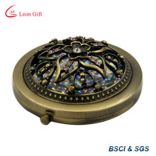 Special Etched Flower Round Makeup Mirror
