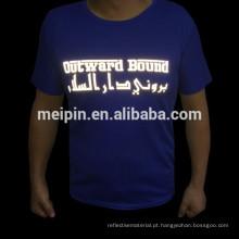 Etiqueta reflexiva da transferência térmica para t-shirt