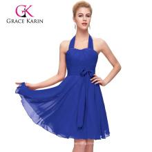 Grace Karin Halter Design Short Chiffon Cheap Bridesmaid Dress CL2290-5