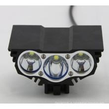 3X Xm-L T6 LED 3t6 4 Modos Farol