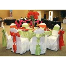 couverture de chaise de polyester visa pour mariage et banquet