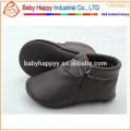 Echtes Leder Mokassin Baby gefrorene Schuhe
