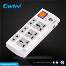 6 vias multi proteção sobrecarga segurança soquete de energia elétrica conjunto