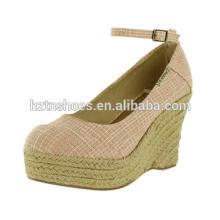 2015 Самый последний способ девушки сексуальных девушок высоких пятки ботинка сандалии клина ботинка женщины розовый