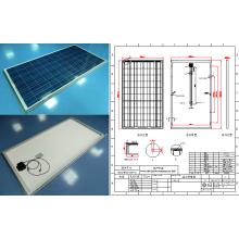 Module solaire polycristallin de panneau de 250W PV avec la certification de Ce RoHS FCC TUV