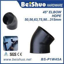 45 Grad HDPE Rohrverschraubung Ellenbogen mit Einzelsockel