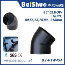 Coude de montage en tuyau en PEHD de 45 degrés avec prise simple