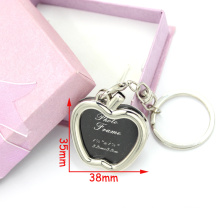 Fashion Zinc Alloy Forme Forme Photo Frame Metal Keyring