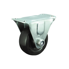 Black Rubber Rigid Caster Wheels for Furnitures