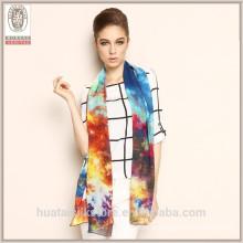 2015 Cachecol de seda novo do xaile de Georgette da cópia da forma do estilo