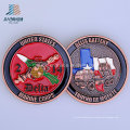 Custom 40mm Soft Enamel USA Marine Metal Challenge Coin for Souvenir Gift