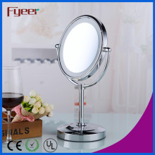 Miroir de maquillage Fyeer Salle de bain DC Power LED Miroir de table