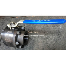 Válvula de bola flotante de acero forjado soldado a tope de 3 piezas (GQ61F)