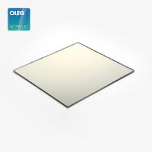 OLEG Factory Wholesale Gold Plastic Rigid Acrylic Mirror Sheet