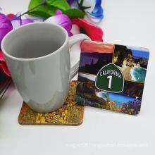 Tourist Souvenirs Wooden Tea Coaster for Home Decoartion