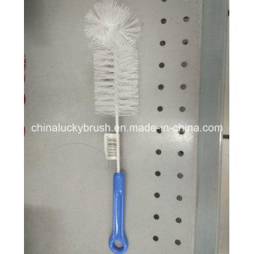Escova de limpeza de garrafas de plástico com alça (YY-476)