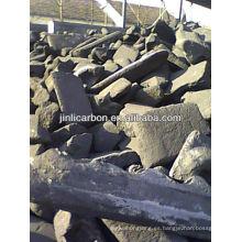 restos de carbón / ánodo de carbón / bloque de ánodo de carbón para la fundición de cobre