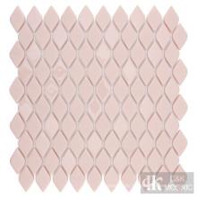 Pink glass tiles bathroom