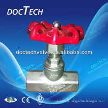 BSPT BSP NPT parafuso globo válvula 200 WOG extremidade roscada fabricada na China