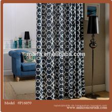 100% Polyester Baumwolle farbiger Voile Vorhang
