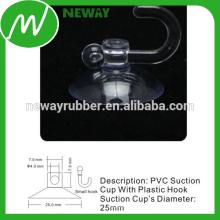 Pequeno copo de sucção de 25 mm com gancho de plástico