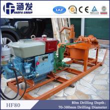 Económico caliente exportado 80m pequeño portátil de perforación de pozo de agua profunda de perforación