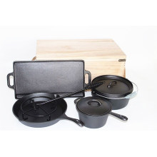 Hot Selling Pre-seasoned Cast Iron Cookware Set