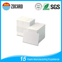 Transparente 85 * 54 mm de tamaño de tarjeta de identificación Blanco PVC plástico en blanco tarjetas