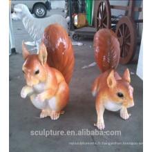 Fibre de verre en acier taille kangourou sculpture statue de kangourou