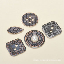 metal button and leaves embellishment metal