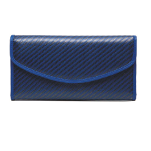 Blue kevlar material women wallet