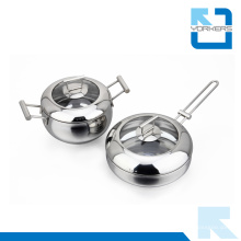 Moda Eco-Friendly Metal Tipo Aço Inoxidável Cookware Set Pot Set