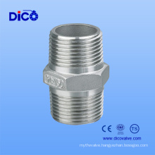 Stainless Steel Hex Nipple with NPT Male Thread