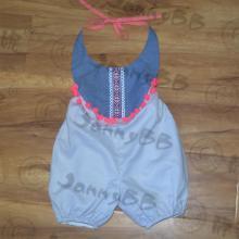 Vestido para bebês Halter Boho Romper para bebês