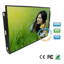 HDMI DVI VGA entrada quadro aberto monitor LCD de 19 polegadas com botões de menu