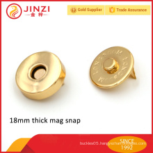 Thick metal strong magnet snap