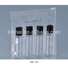 kosmetische verpackung leere flache haustierflasche mit sprühkappe plastik reiseflasche satz