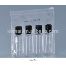 cosmetic packing empty clear pet bottle with spray cap plastic travel bottle set