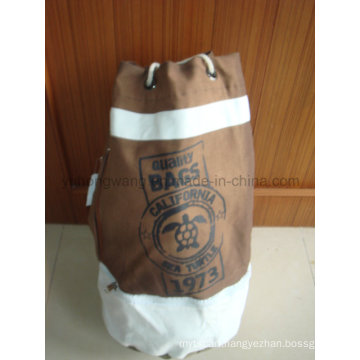 Promotional Canvas Round Duffer Drawstring Bag