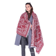 2017 Tamaño al por mayor de encargo de la bufanda de punto de acrílico de la moda