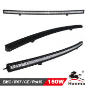 Hanma New Products! Curved LED Light Bar, Single Row 5W, 50inch 150W for 4X4 Driving Car Light, Auto Lamp
