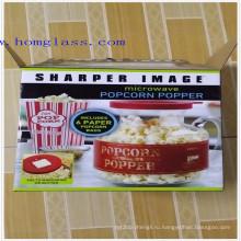 Боросиликатное стекло Микроволновая Попкорн Поппера/кукурузы Поппер/попкорн машина/попкорн чайник