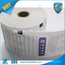 Hecho en China al por menor de caja registradora de papel en blanco ncr rollos de papel térmico de alta calidad