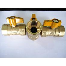 Amarillo de las vávulas de bola de gas latón manija UL CSA 175 PSI